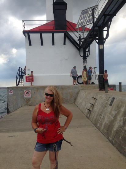 Lady Fred at Lighthouse in Michigan City, IN at Washington Park.