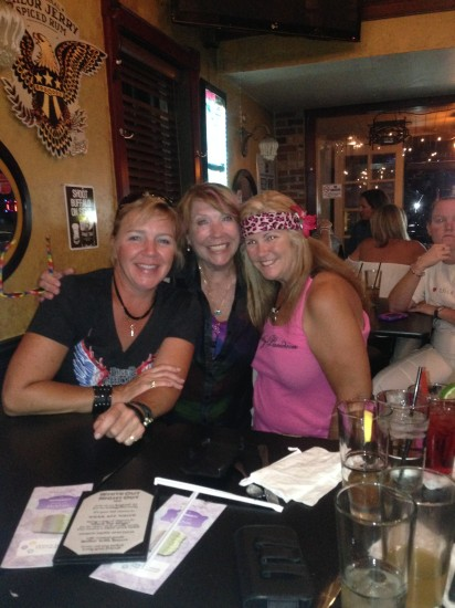 "08-31-14 Sun - Dear friends, Colleen Moriarty, ""Sparkley"" Kathleen Hanratty and Lady Fred."