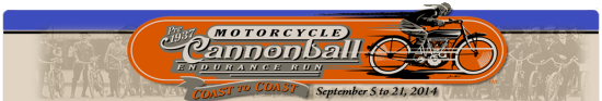 2014 Motorcycle Cannonball September 5-21, 2014